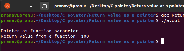 Pointer as return value