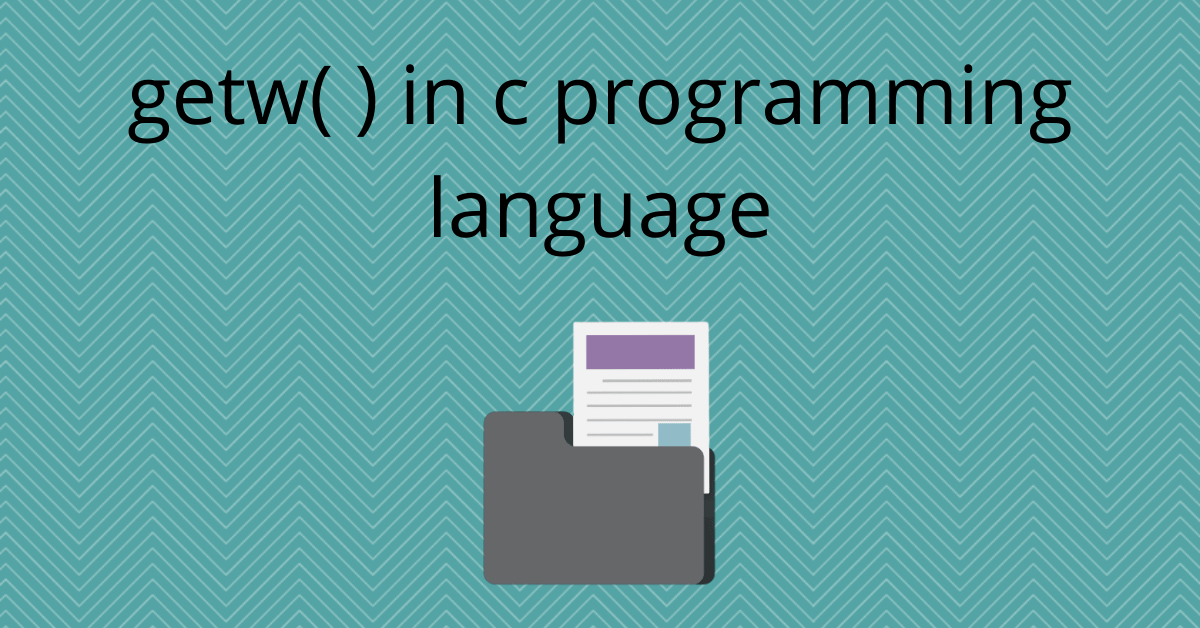 getw in c programming language