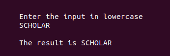 Example for toupper in c programming 2