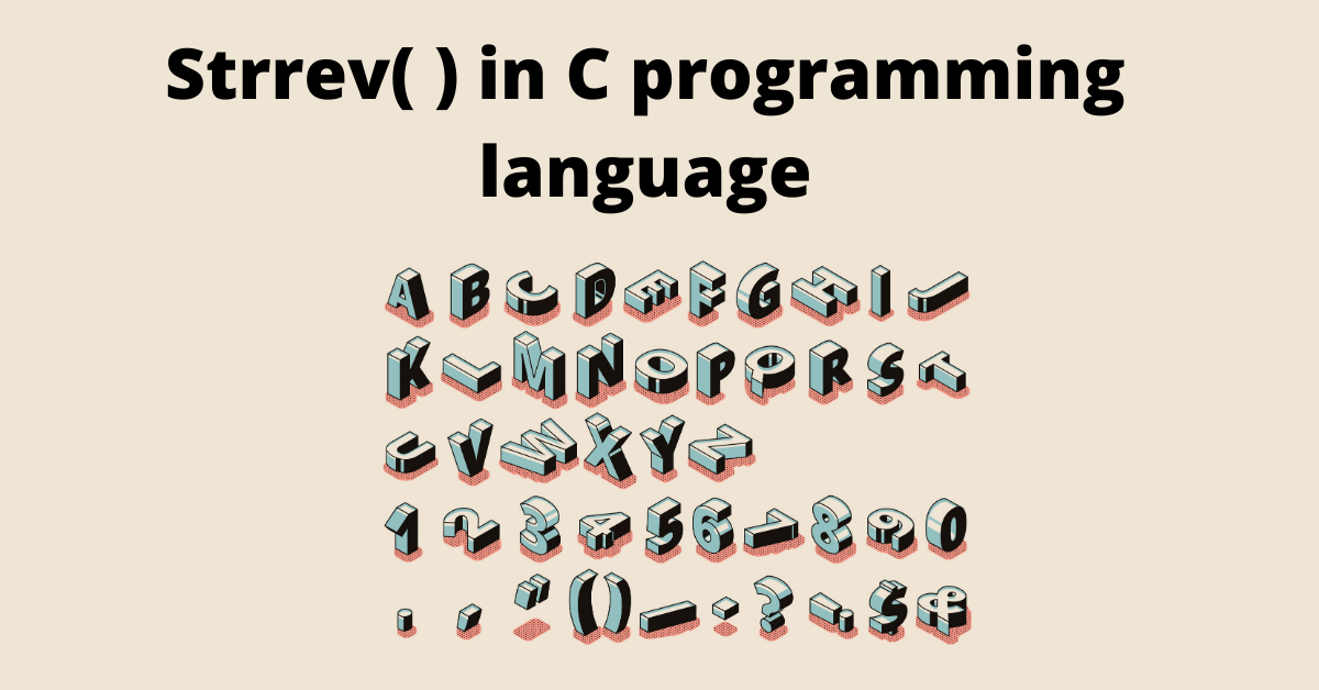 strrev in c programming language
