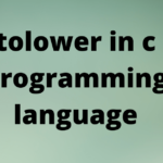 tolower in c