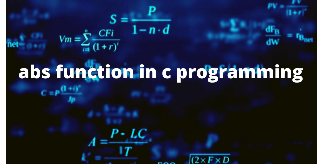 abs in c programming